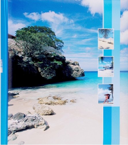Quantio HENZO Jumbo Fotoalbum Insel - 100 Seiten für bis zu 600 Fotos - Bilderalbum - Jumboalbum - Album - Urlausalbum