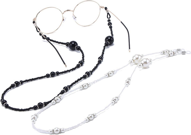 CUNCOO Retro Eyeglass Chain Sunglasses Eyewear Reading Glasses Chain for Women, 2 Pcs
