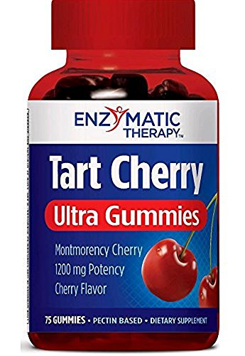 Enzymatic Therapy Tart Cherry Ultra Gummies Supplement, Cherry, 75 Count (3 Pack)