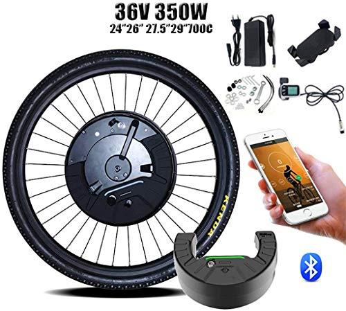 Umrüstsatz für Elektrofahrräder/Umrüstsatz 36V350W Imotor 3 Kit in Umrüstsatz 26''700C 27.5''29 '' DC vorne Motor-Rad-Elektro-Fahrrad-Kit Bicicleta Electrica 2020 (Farbe: Disc APP-Steuerung, Größe: