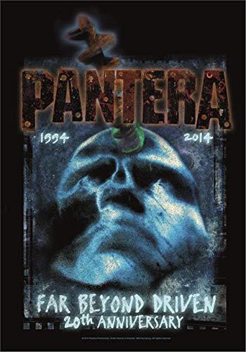 Heart Rock Flagge Original Pantera Far Beyond 20th Anniversary, Stoff, Mehrfarbig, 110 x 75 x 0,1 cm