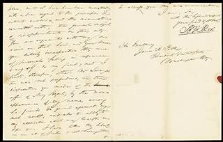 Benjamin Franklin Butler - Autograph Letter Signed 04/10/1845