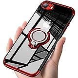 ATUSIDUN iPhone ケース リング 滑り防止 耐衝撃 iPhone SE /iPhone 7 / iPhone 8 赤