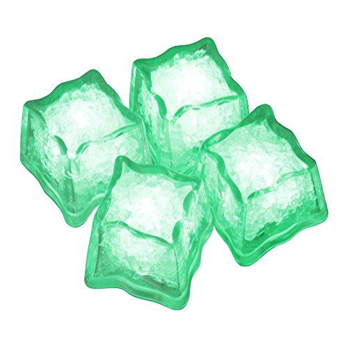 LED-Highlights Deko Eiswürfel leuchtend blinkend im 4er Set grün Party Licht Kunststoff Würfel wasserdicht mit Batterie