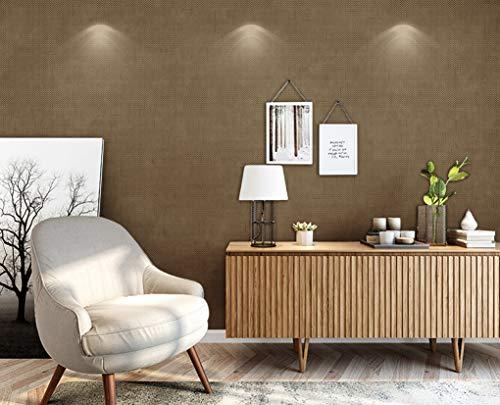 Mddjj Non-Woven Wallpaper Verbetering Gereedschap Gestreepte Behang Woonkamer Persoonlijkheid Behang leiden De Trend Van Eenvoudige Mode Bruin