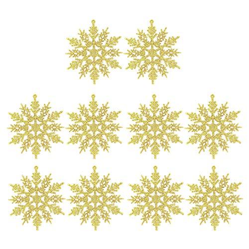 Reasoncool Weihnachten Advent Dekoration 10 Schneeflocken Weihnachten Deko Glänzend Eiskristalle Dekoration Weihnachtsbaumspitze Weihnachtsdekoration