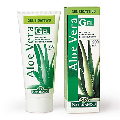 Naturando srl - Aloe Vera Gel 200 ml - Crema Emoliente Con Acciόn Calmante, Refrescante y Hidratante