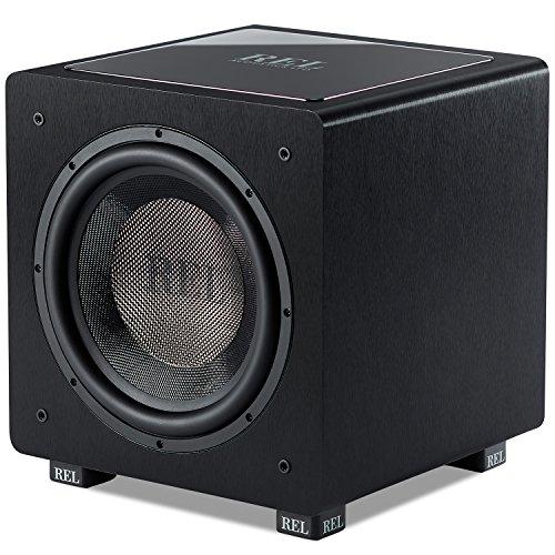 REL Acoustics HT/1205 Subwoofer, HT-Air Wireless Compatible, Line Grained Black Composite