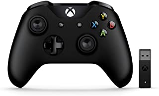 Microsoft XBOX Wireless Controller with Wireless Adapter for Windows 10