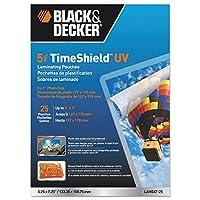 ブラックand Decker TimeShield UV Thermal Laminating Pouches , 4x 6写真、5Mil 4 x 6