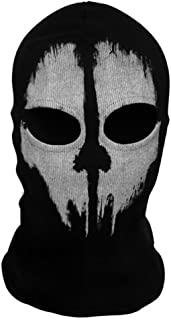 Onairmall Call of Duty 10 COD Ghost Hoods Skull Skeleton Head Mask Hood Biker for Birthday Halloween Christmas Easter Gifts
