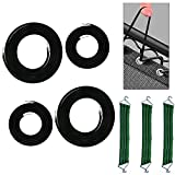 Zero Gravity Chair Replacement Cords Bungees Repair Kit Universal Elastic Laces for Recliners Lounge Chair Anti Gravity Chair Reclining Patio Chairs Lawn Chair Sling Chair 4 Cords Black