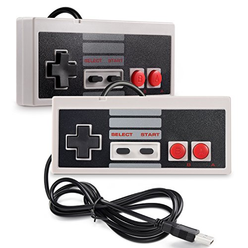 iNNEXT 2 x USB NES Controller Gamepad,Retro NES PC-Controller Spiel Joypad für Windows 10 PC Mac Raspberry Pi/RetroPie NES Emulator