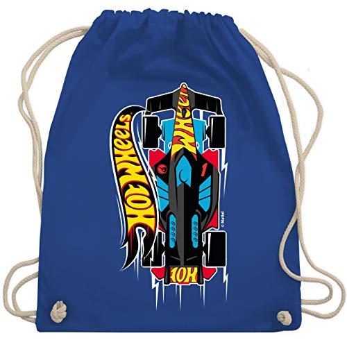 Shirtracer Hot Wheels Tasche - Rennauto - schwarz/gelb - Unisize - Royalblau - Spruch - WM110 - Turnbeutel und Stoffbeutel aus Baumwolle