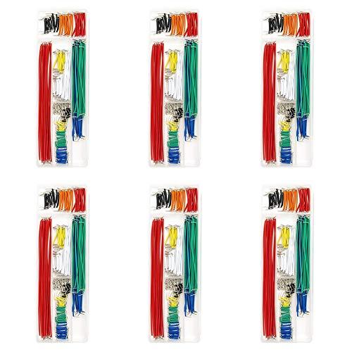 Los Cables De Tablero De Puente Surtido Kit Preformado Sin Soldadura Macho a Macho 14 Longitudes Surtido Kit para Cortar El Pan De Prototipos Color Al Azar 840pcs