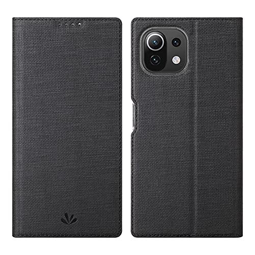 Foluu Funda para Xiaomi Mi 11 Lite 4G/5G, Flip Folio Wallet Case Slim Premium PU Cuero Case ID Tarjeta de crédito Kickstand Cierre magnético TPU Bumper Case para Xiaomi Mi 11 Lite 4G/5G 2021 (