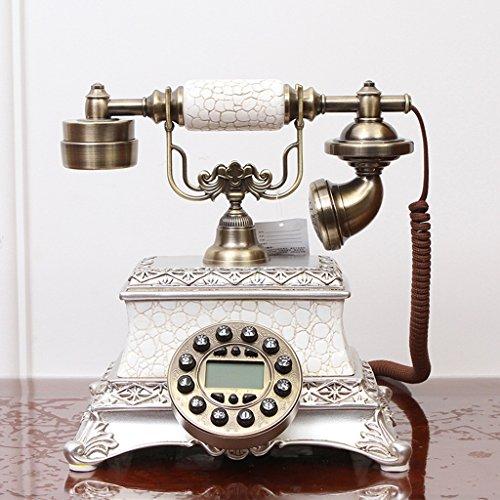 MYYINGELE Teléfono antiguo, de madera maciza creativa sala de estar hogar teléfono fijo 25x25cm