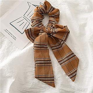 YJXUSHYQ Woman Dot Ribbon Scrunchies Ponytail Holders Hair Ties Rope Hair Accessories Headwear Elastic Hairband (Color : B...