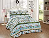 Kids Collection Full Size Comforter And Sheet Set Robot Android Fantasy Machine Technology Cartoon Multi-Color for Kids New # Robot