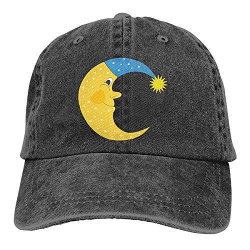 Moon Sleeping Men & Women Gorras de béisbol Ajustables Sombrero para el Sol de Tela Vaquera