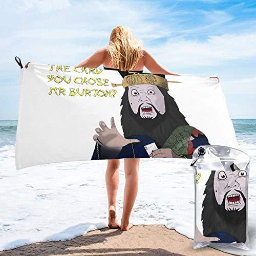 Hdadwy Toalla de playa de secado rápido de microfibra Jack-Burton con bolsa de transporte para niños, adolescentes, adultos, viajes, gimnasio, camping, piscina, yoga, al aire libre y picnic 27.5 'x55'