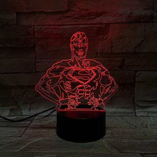 Zeichentrickfigur 3D LED Illusionslampe Nachtlicht Optischer Nachttisch Nachtlichter 16 Farbwechsel Touch Button Dekoration Schreibtischlampen,