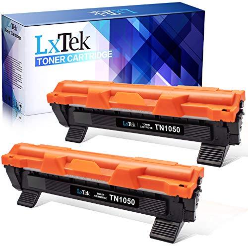 LxTek Compatibile Toner Sostituzione per TN1050 (1000 pagine) per Brother HL-1210W HL-1212W HL-1110 HL-1112 DCP-1510 DCP-1512 DCP-1610W DCP-1612W MFC-1810 MFC-1910W (2 Nero)