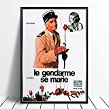 SIRIUSART Leinwand Poster Bilder Le Gendarme Se Marie (der