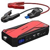 DBPOWER Tragbare Auto Starthilfe Autobatterie Anlasser, Akku Ladegerät mit Kompass, LCD Display und...