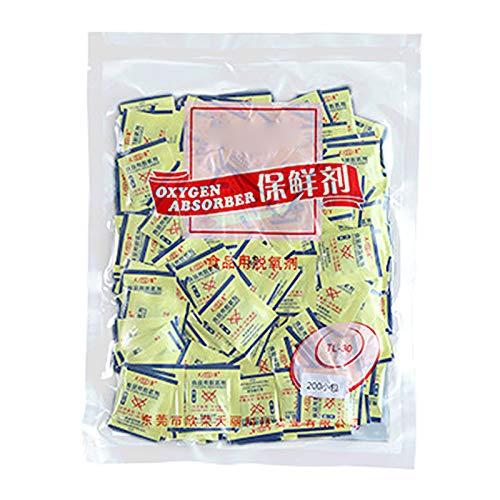 Fugift 200 bolsas de desoxidante de 30 cc 50 cc absorbentes de oxígeno para pastel de luna a largo plazo para mantener el almacenamiento de alimentos ahorrador de CO2