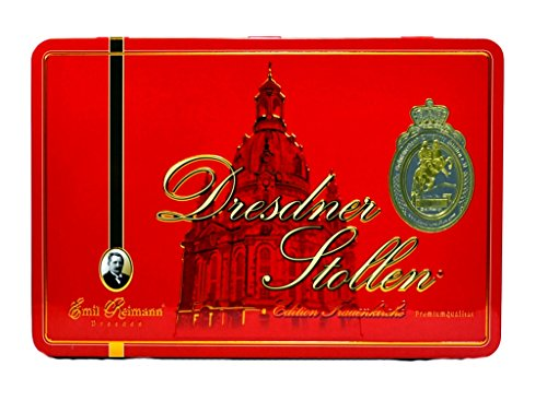Emil Reimann Dresdner Stollen 'Church of Our Lady' in Red Gift Tin - 1,000g / 35.6 Oz