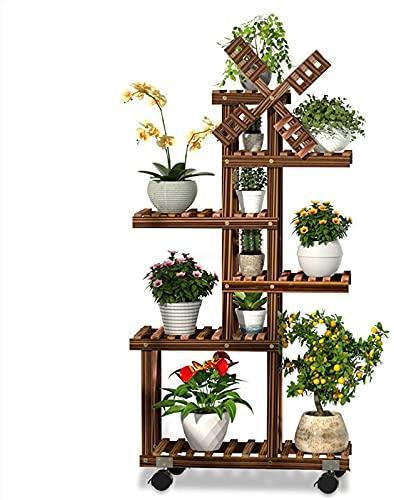 Estanterias para Macetas Madera,Madera Vertical Escalera Macetero Plantas Estanterias Decorativa,para Exterior Interior Jardin Plantas Estantes
