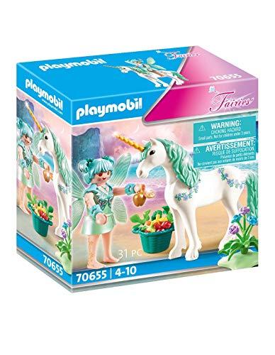 PLAYMOBIL Fairies 70655 Einhorn mit Fütter-Fee, Ab 4 Jahren