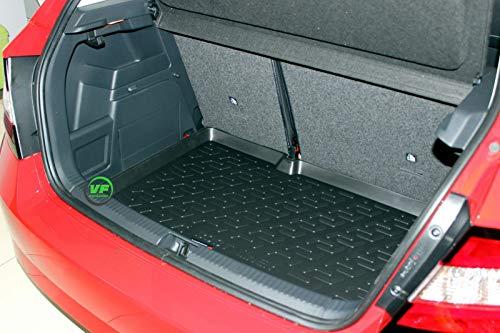 J&J AUTOMOTIVE Premium Antirutsch Gummi-Kofferraumwanne für Skoda Fabia III Schrägheck ab 2015