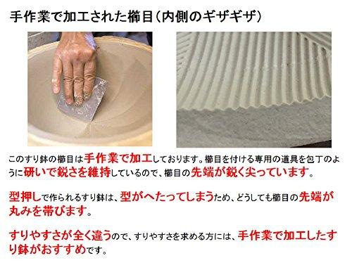 元重製陶所石見焼すり鉢7号(直径22cm・すりこぎ付)織部