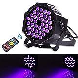 UV ブラックライト U`King 36W LED ステージライト リモコン DMX512 パーティー 舞台照明用 ディスコライト DJ バー 公演 クラブ 蛍光反応