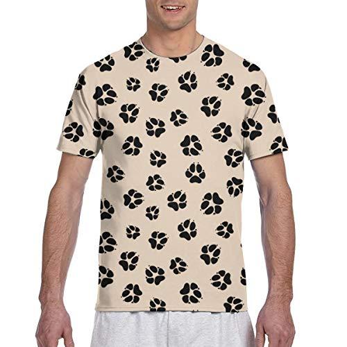 Colorido Animal Paw Prints Seamless Full 3D Impreso Camiseta Plus Size Cool Printing Top Blusa S
