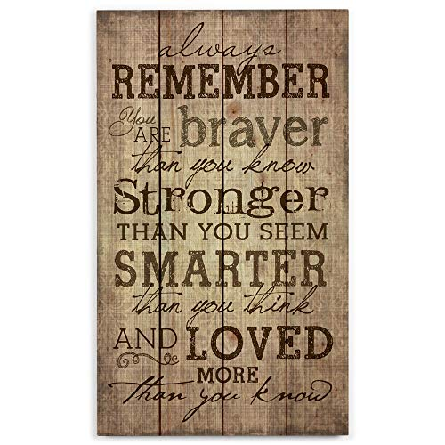 P. Graham Dunn Always Remember You are Stronger Than You Know 24 x 14 Wood Pallet Design Wall Art Sign Plaque