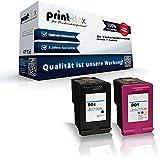 2 x cartuchos de tinta compatibles para HP OfficeJet 4500 Wireless Serie J 4500 J J 4524 4535 J 4540 4550 J J 4580 J 4600 Serie J J 4660 J 4624 4680 J c 4680. HP 901 BK HP 901 CL HP901BK HP901CL Set ahorro - CC654AE CC656AE CC653AE HP901XL - Eco Plus Series