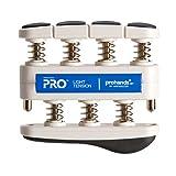 PROHANDS PRO Hand Exerciser, Finger Exerciser (Hand Grip Strengthener), Spring-Loaded, Finger-Piston System, Isolate and Exercise Each Finger, (5 lb Light Tension, Blue-Pro)