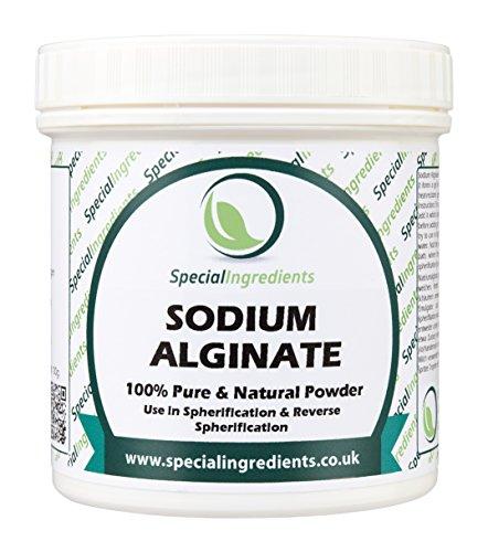 Special Ingredients Alginato di Sodio 250g Qualità Premio (Etichette e istruzioni Italiane)