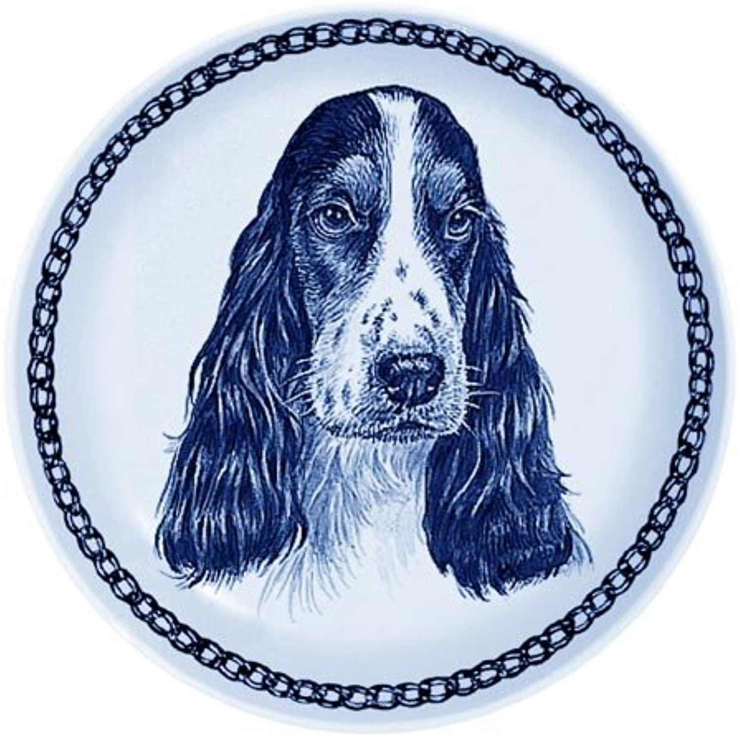 English Cocker Spaniel Lekven Design Dog Plate 19.5 cm  7.61 inches Made in Denmark NEW with certificate of origin PLATE  75650