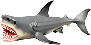 Megalodon Shark Toy Figurine,Prehistoric Shark Ocean Education Animal Figure Model Kids Toy Gift,7.2x3.9x2.6 Inch