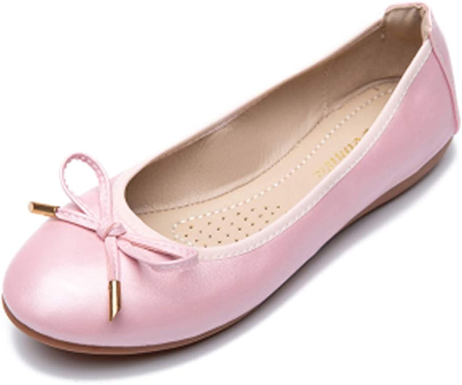Women Solid Flats, Casual Butterfly-Knot Round Toe Slip-On Work shoes 3 colors