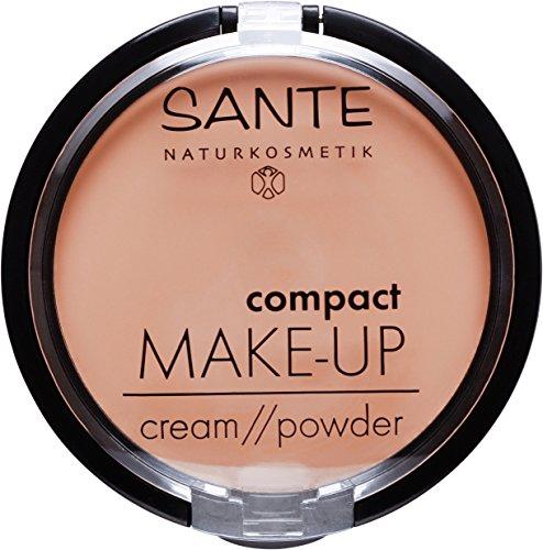 Sante Cosmetici naturali Compact Make Up, con specchio e nappe, vegan, Bio di estratti (9G)