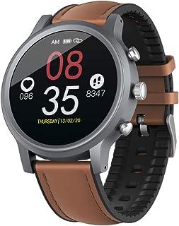 EnweLampi Reloj Smart Watch, IP68 Impermeable Fitness Tracker Running Watch Activity Tracker Podómetro con Ritmo Cardíaco Sleep Tracking Control De Cámara para Hombres Mujeres,Marrón