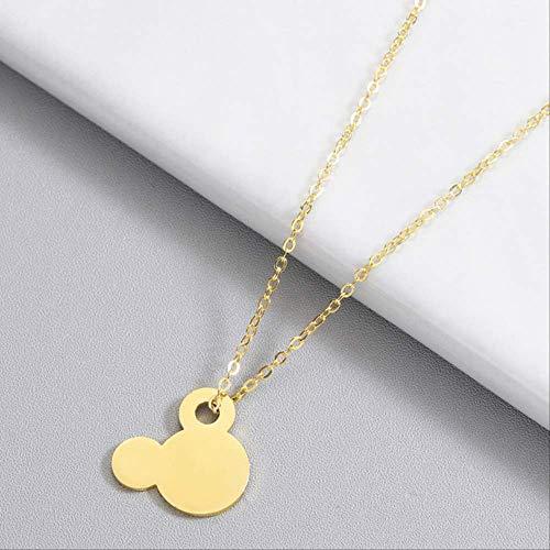 BDCF Collar de acero inoxidable para mujer, diseño de Mickey Mouse, para...