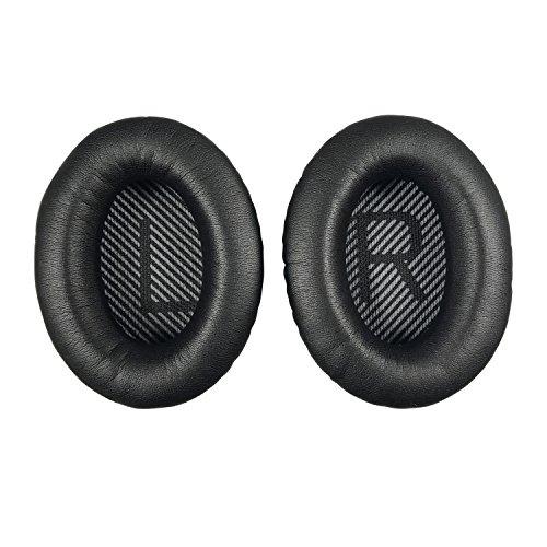 Replacement Ear-Pads Cushions for Bose QuietComfort-35 (QC-35) and QuietComfort-35 II (QC-35 II) Over-Ear Headphones (Black)