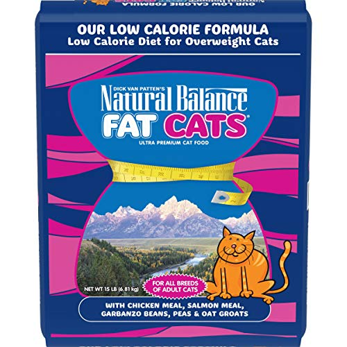 Natural Balance Fat Cats Low Calorie Dry Cat Food, Chicken Meal, Salmon Meal, Garbanzo Beans, Peas &...