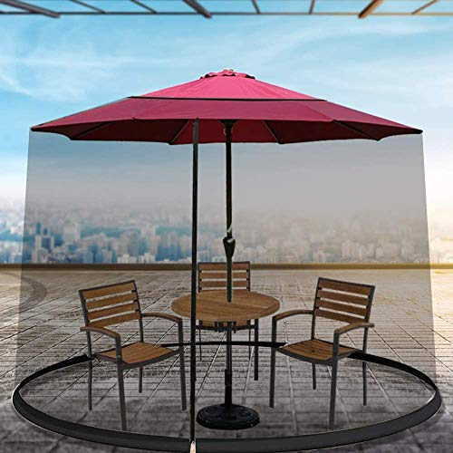 BBYT Patio Umbrella Mosquito Netting - Polyester Mesh Screen Outdoor Umbrella Table Screen with Zipper Opening and - Helps Protect from Mosquitoes - Fits Umbrellas and Patio Tables 275230CM